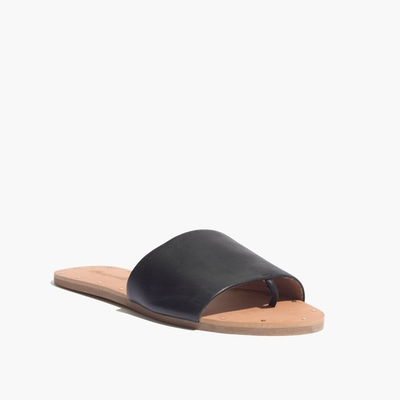 f346309c823 Madewell Shoes - Madewell Anais Black Leather Slide Thong Sandals